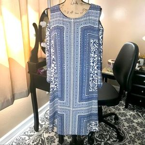 Boho Plus Dress Women's Cold Shoulder Size 14